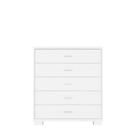 Manhattan Comfort - Astor 5- Drawer Modern Dresser in White Gloss