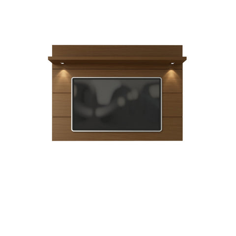 Manhattan Comfort - Cabrini Floating Wall TV Panel 2.2 in Nut Brown