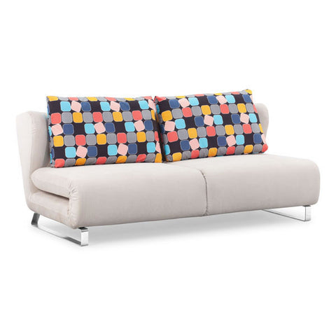 Zuo - Conic Sofa Sleeper Cowboy Blue Body & Shadow Grid Cushion