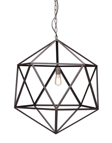 Zuo - Amethyst Ceiling Lamp Large Rust