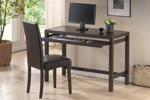 Baxton - Astoria Dark Brown Modern Desk and Chair Set