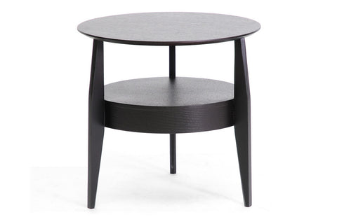 Baxton - Gretton Black Wood Modern End Table with Drawer