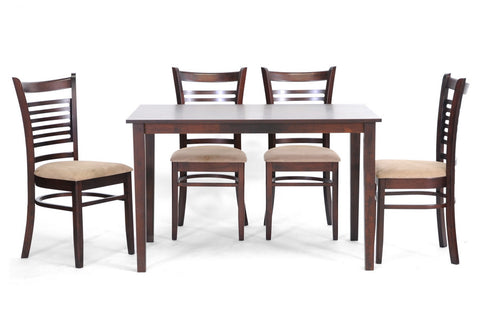 Baxton - Cathy Brown Wood Modern 5 Piece Dining Set