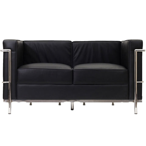 Modway - LC2 Leather Loveseat in Black