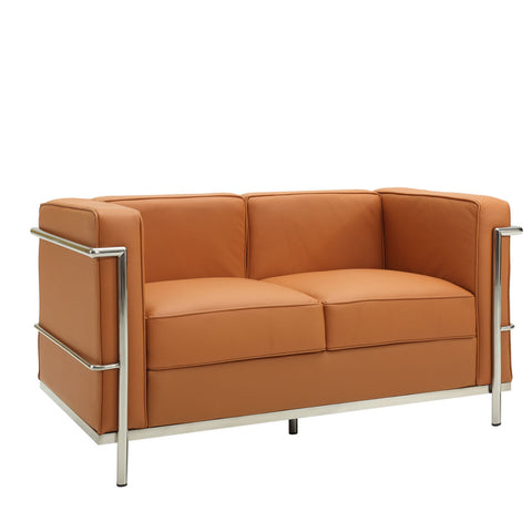 Modway - LC2 Leather Loveseat in Tan