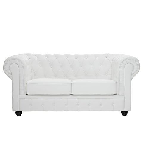 Modway - Chesterfield Loveseat in White