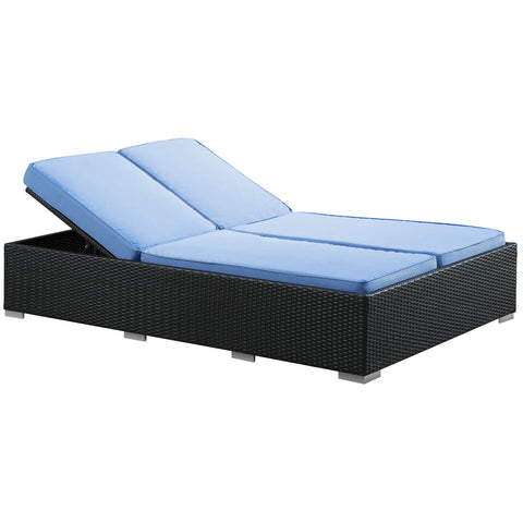 Modway - Evince Chaise in Espresso Light Blue