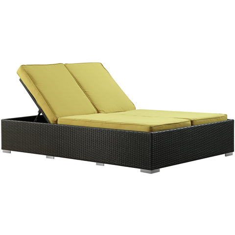 Modway - Evince Chaise in Espresso Peridot