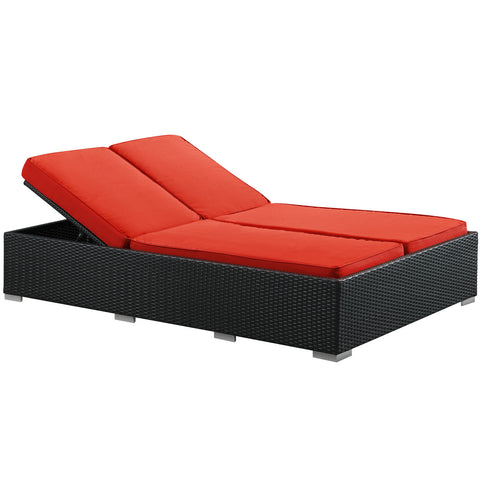 Modway - Evince Chaise in Espresso Red
