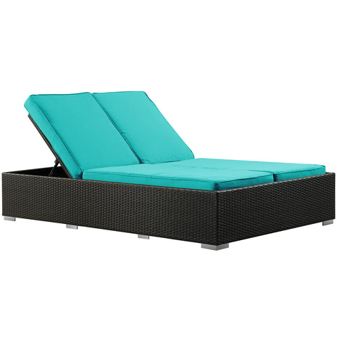 Modway - Evince Chaise in Espresso Turquoise