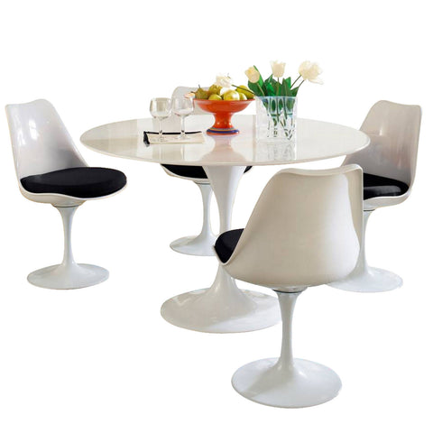 Modway - Lippa 5 Piece Dining Set in Black