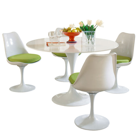 Modway - Lippa 5 Piece Dining Set in Green