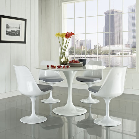 Modway - Lippa 5 Piece Dining Set in Gray