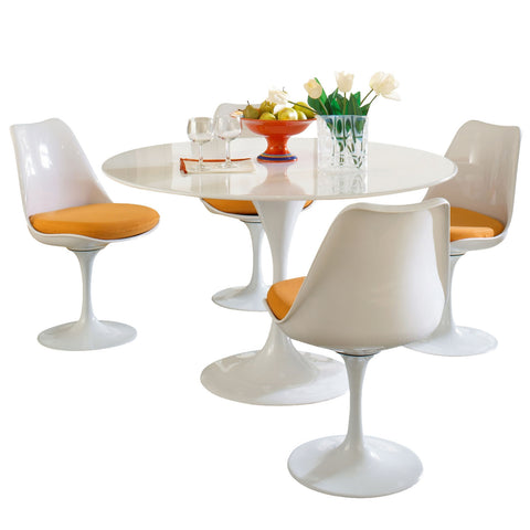 Modway - Lippa 5 Piece Dining Set in Orange