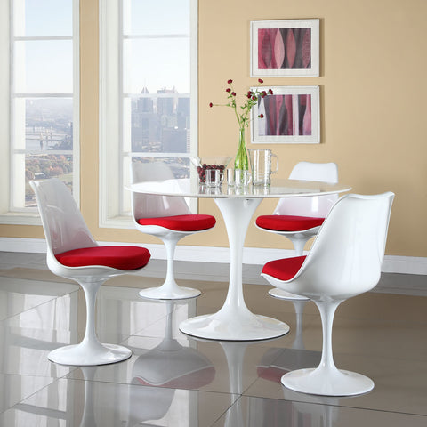 Modway - Lippa 5 Piece Dining Set in Red