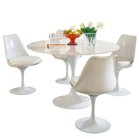 Modway - Lippa 5 Piece Dining Set in White