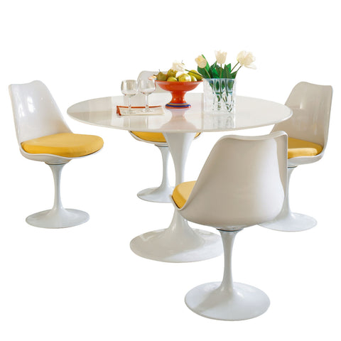Modway - Lippa 5 Piece Dining Set in Yellow