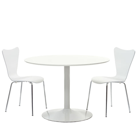Modway - Revolve 3 Piece Dining Set in White