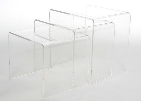 Baxton - Acrylic Nesting Table 3-Pc Table Set Display Stands