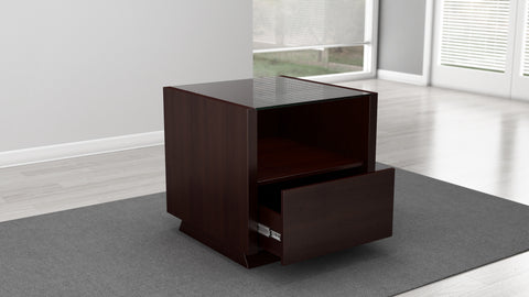 "Furnitech - 24"" Sleek Contemporary End Table in a Wenge Finish"