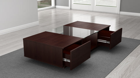"Furnitech - 53"" Sleek Contemporary Coffee Table in a Wenge Finish"