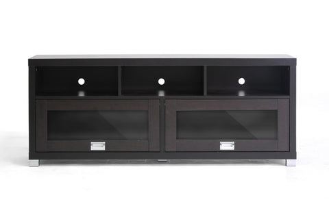 Baxton - Swindon Modern TV Stand with Glass Doors