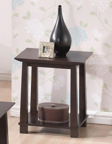 Baxton - Havana Brown Wood Modern End Table