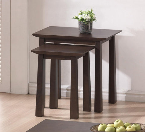 Baxton - Havana Brown Wood Modern Nesting Table Set