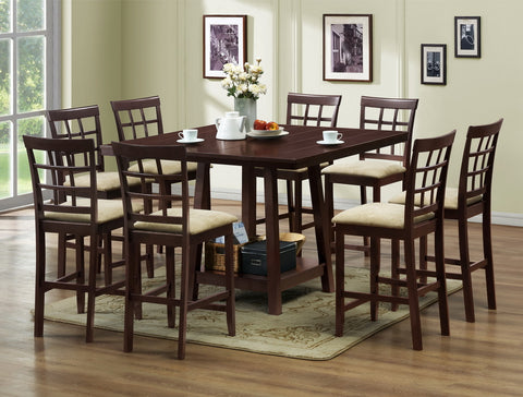 Baxton - Katelyn Modern Pub Table Set - 7 Piece Modern Dining Set