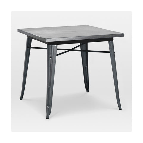 Design Lab MN -Dreux Dark Gunmetal Steel Dining Table 30