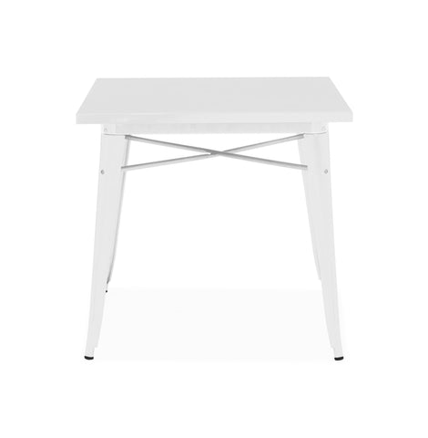Design Lab MN - Dreux Glossy White Steel Dining Table 30