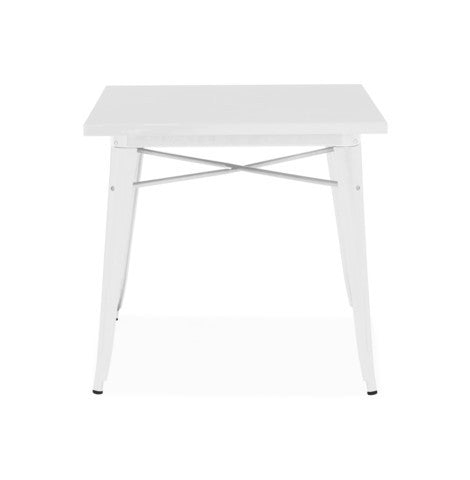 Design Lab MN - Dreux Glossy White Steel Dining Table 30""