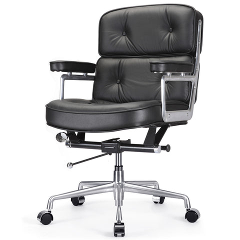 Jossio - Cinque Office Chair in Black Leather