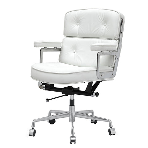 Jossio - Cinque Office Chair in White Leather