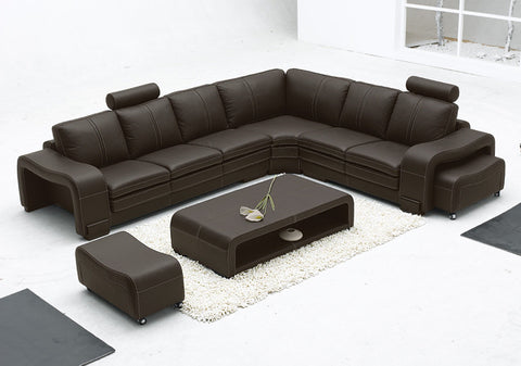 BexMod Furniture - Migliore Divano Cadell Leather Sectional Sofa