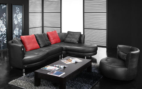BexMod Furniture - Migliore Divano Calida Leather Sectional Sofa with Chair