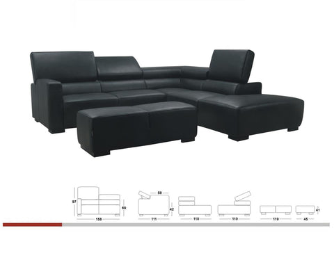 BexMod Furniture - Migliore Divano Cadman Leather Sectional Sofa