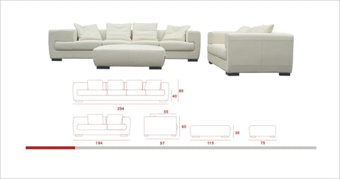 BexMod Furniture - Migliore Divano Cadence 3 Piece Leather Sofa Set