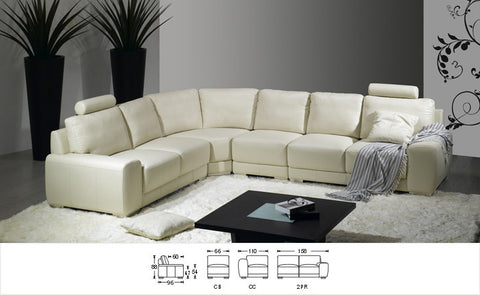BexMod Furniture - Migliore Divano Cacey Leather Sectional Sofa