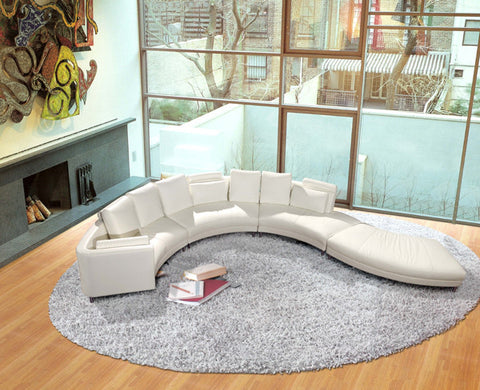 BexMod Furniture - Migliore Divano Blanco Leather Sectional Sofa