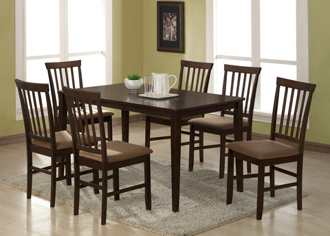 Baxton - Tiffany 5 Piece Modern Dining Set in Espresso Brown Wood