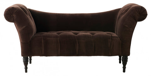 Tov Furniture - Shev Brown Velvet Settee