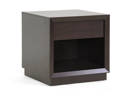 Baxton - Girvin Brown Modern Accent Table and Nightstand