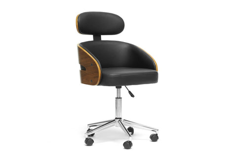 Baxton - Kneppe Black Modern Office Chair
