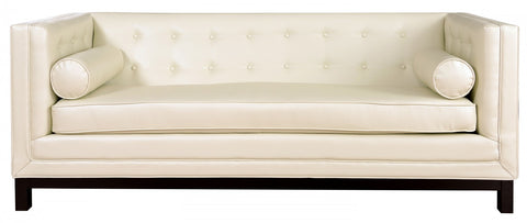 Tov Furniture - Zoe Cream Leather Sofa