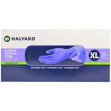 Purple Nitrile Xtra Non Sterile Gloves, 12""