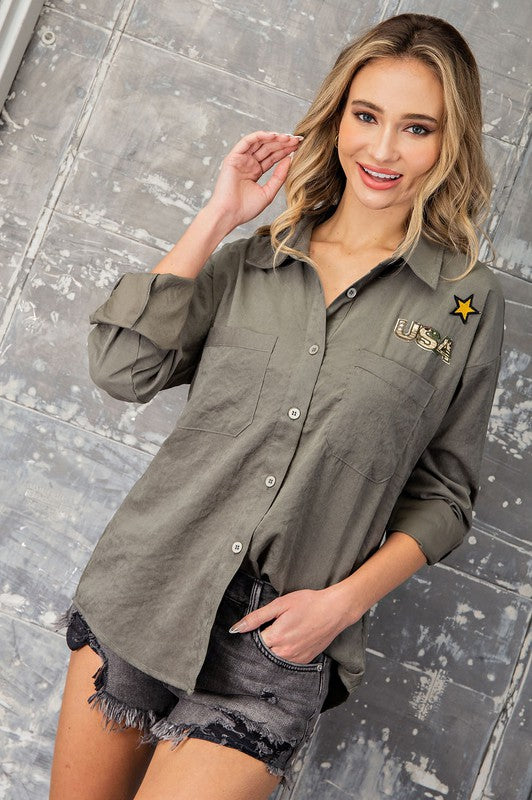 2294- Morningstar USA Patch Button Top