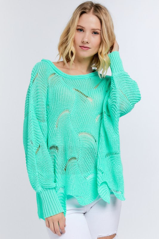 1816- Avalon Scalloped Bottom Sweater