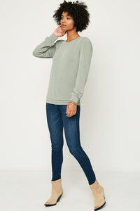2376- Delphi Puffy Sleeve top