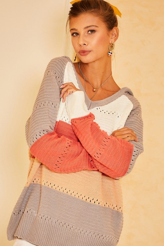 2573- Hailey Hooded Sweater